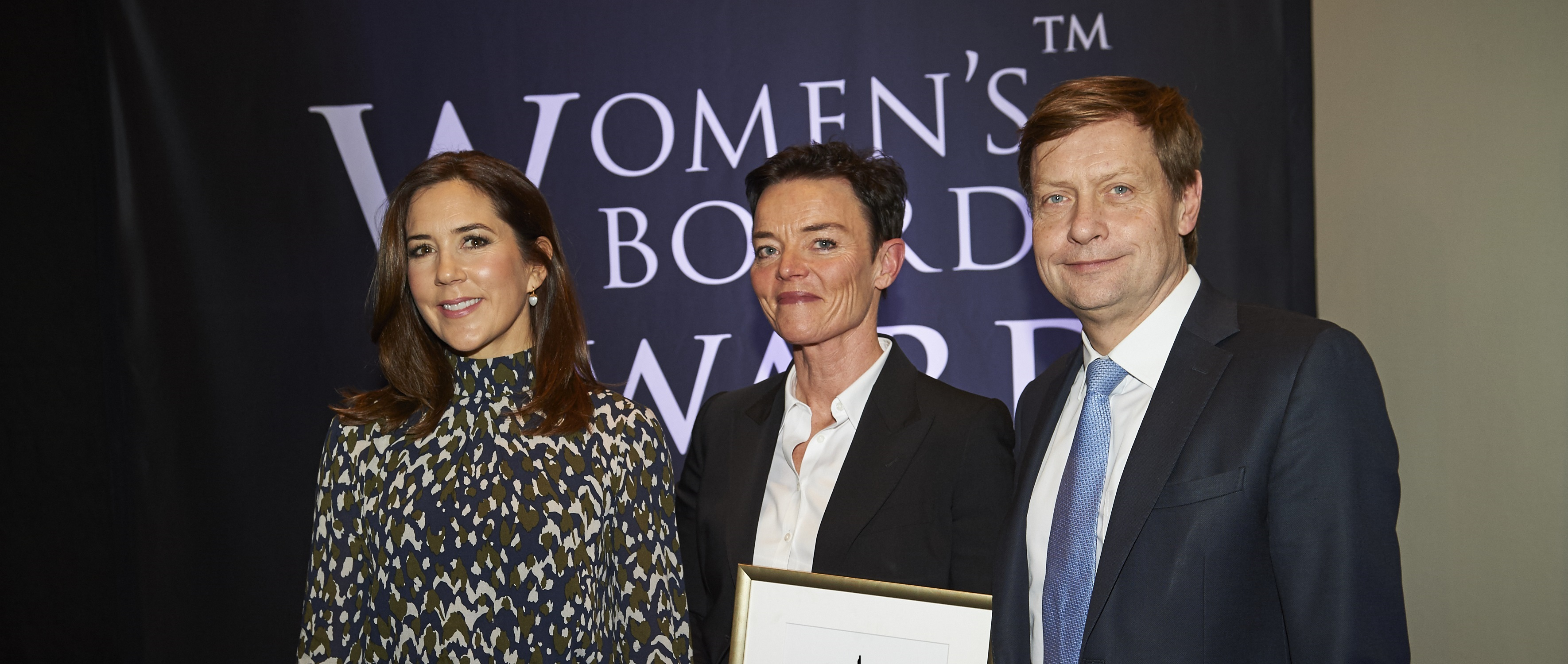 Womans board award 2018 Vinder Marianne Kierkegaard Hkh Mary holdte tale og overrakte prisen Opgave for Womans board award